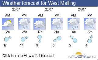 Weather forecast for West Malling