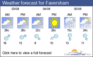 Weather forecast for Faversham