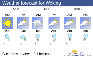Weather forecast for Woking
