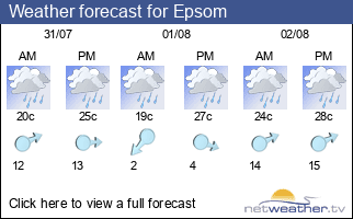 Weather forecast for Epsom