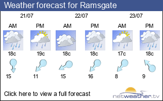 Weather forecast for Ramsgate