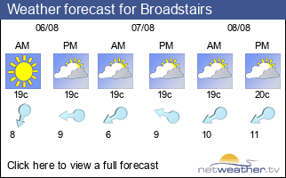 Weather forecast for Broadstairs