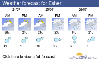 Weather forecast for Esher