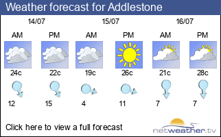 Weather forecast for Addlestone