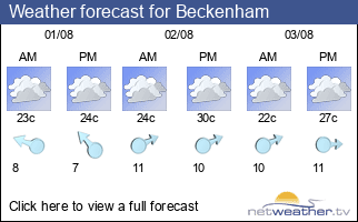 Weather forecast for Beckenham
