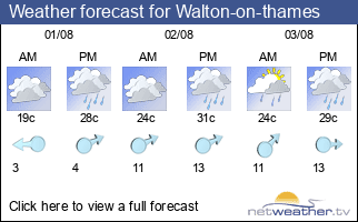 Weather forecast for Walton-on-thames