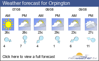 Weather forecast for Orpington