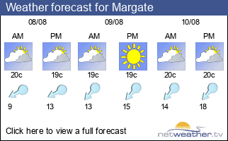Weather forecast for Margate