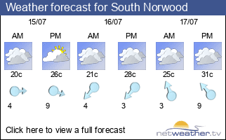 Weather forecast for South Norwood