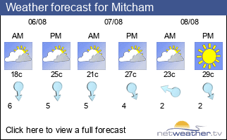 Weather forecast for Mitcham