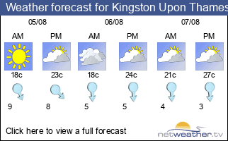 Weather forecast for Kingston Upon Thames