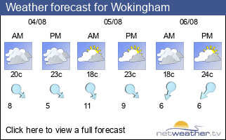 Weather forecast for Wokingham
