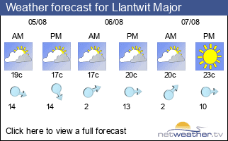 Weather forecast for Llantwit Major