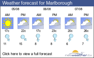 Weather forecast for Marlborough