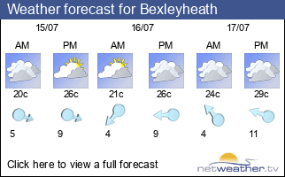 Weather forecast for Bexleyheath