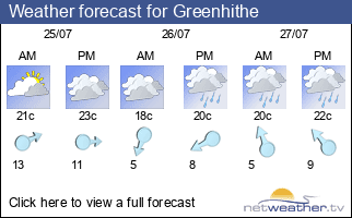 Weather forecast for Greenhithe