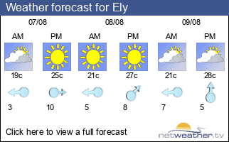 Weather forecast for Ely