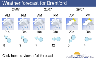 Weather forecast for Brentford