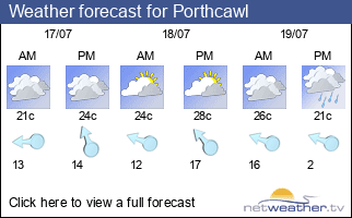 Weather forecast for Porthcawl