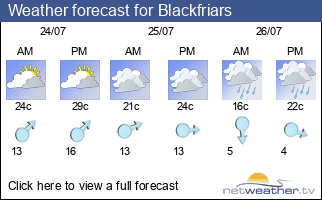 Weather forecast for Blackfriars