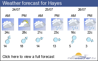 Weather forecast for Hayes