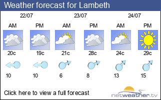 Weather forecast for Lambeth