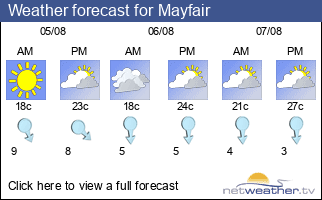 Weather forecast for Mayfair