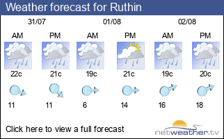 Weather forecast for Ruthin