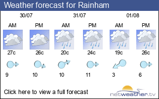 Weather forecast for Rainham