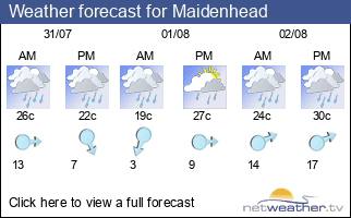 Weather forecast for Maidenhead
