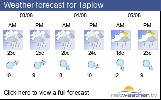 Weather forecast for Taplow