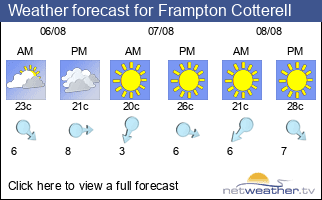 Weather forecast for Frampton Cotterell