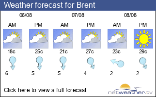 Weather forecast for Brent