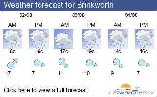 Weather forecast for Brinkworth
