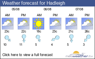 Weather forecast for Hadleigh