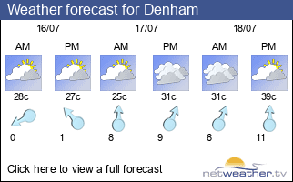 Weather forecast for Denham