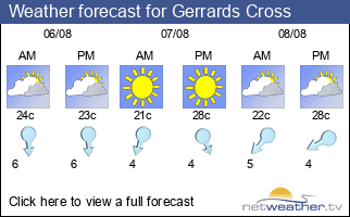 Weather forecast for Gerrards Cross