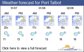 Weather forecast for Port Talbot
