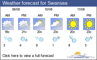 Weather forecast for Swansea