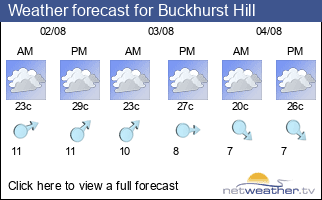 Weather forecast for Buckhurst Hill