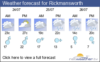 Weather forecast for Rickmansworth