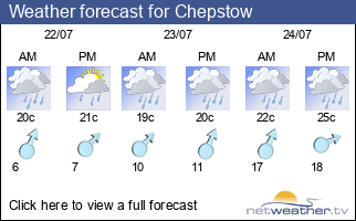 Weather forecast for Chepstow