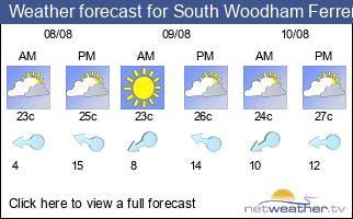 Weather forecast for South Woodham Ferrers