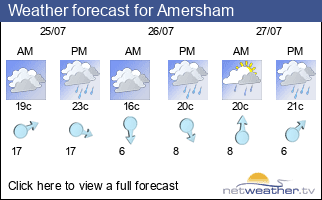 Weather forecast for Amersham