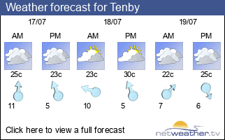 Weather forecast for Tenby