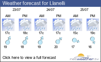 Weather forecast for Llanelli