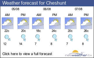 Weather forecast for Cheshunt