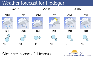 Weather forecast for Tredegar