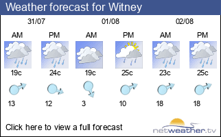 Weather forecast for Witney
