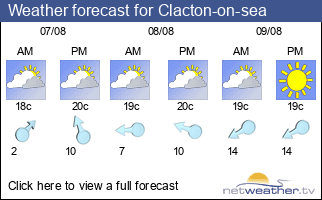 Weather forecast for Clacton-on-sea